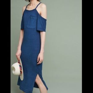 Anthropologie Cloth & Stone Cold Shoulder Dress